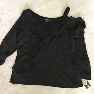 NWT INC International  Concepts black blouse OX